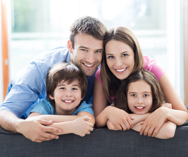 Happy Family at the Best Couer d'Alene Dentist Loftus Family Dental